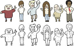 Illustrations of men Stock Photo