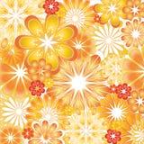 Illustrations oranges et rouges de vecteur de fleur Photo stock
