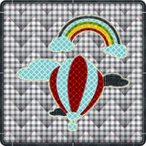 Illustrations patchwork of  balloon with rainbow Royalty Free Stock Photo