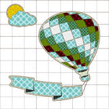 Illustrations patchwork of balloon with rainbow Royalty Free Stock Images