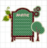 Illustrations patchwork of menu boards Royalty Free Stock Photography