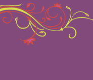 Illustrations Patterns. On the white violet background Stock Photos