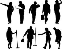 Illustrations of people. Illsutrations of people in various activties Royalty Free Stock Image