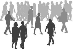 Illustrations of people. Lots of Illustrations of people Stock Image