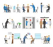 Illustrations of people working in an office Royalty Free Stock Photo