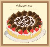 Illustrations of the pie. Beautiful batch. Beautif Stock Images