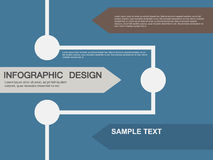 Illustrations plates d'infographics d'affaires Photos stock