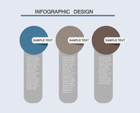 Illustrations plates d'infographics d'affaires Photo libre de droits