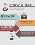 Illustrations plates d'infographics d'affaires Photos libres de droits
