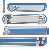Illustrations pour employer le texte au sujet du badminton Image stock