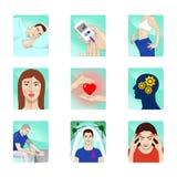 Illustrations pour le mode de vie sain illustration libre de droits