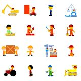 Illustrations of professions Royalty Free Stock Photo