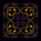 Illustrations  psychedelic fractal futuristic geometric colorful. Magic shape wave geometric print galaxy decorative royalty free illustration