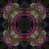 Illustrations  psychedelic fractal futuristic geometric colorful. Magic shape wave geometric print galaxy decorative stock illustration