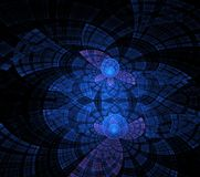 Illustrations  psychedelic fractal futuristic geometric colorful. Magic shape wave geometric print galaxy decorative royalty free stock photography
