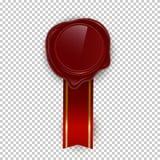 Illustrations rouges de vecteur de couleur de joint de rero de cire sur le fond transparent illustration libre de droits