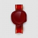 Illustrations rouges de vecteur de couleur de joint de rero de cire sur le fond transparent illustration stock