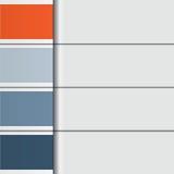 Illustrations-Schablone von den horizontalen Streifen mit Textbereichen F Stockbilder