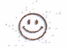 Illustrations of smile. With piople Royalty Free Stock Photo