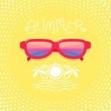 Illustrations-Sonnenbrille Stockfotografie