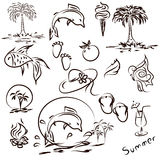 Illustrations for summer Stock Photography