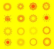 Illustrations of the sun Royalty Free Stock Images