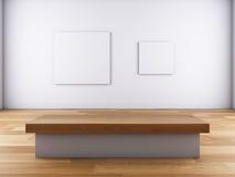 Illustrations sur le mur et le banc. Image libre de droits