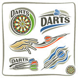 Illustrations on the theme of darts Royalty Free Stock Image