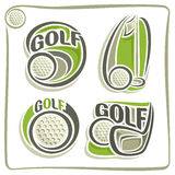 Illustrations on the theme of golf Stock Photos