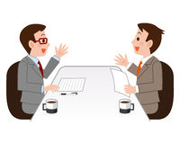 Illustrations to negotiation Stock Images