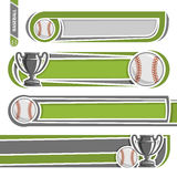 Illustrations to use text on the subject of baseball Royalty Free Stock Image