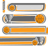 Illustrations to use text on the subject of basketball Stock Photo