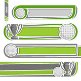 Illustrations to use text on the subject of golf Royalty Free Stock Photos