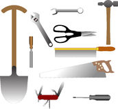 Illustrations of tools. Lots of illustrations of DIY tools Stock Photos