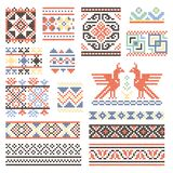 Illustrations of traditional russian culture. Geometrical ornament in ethnic style stock illustration