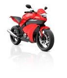 Illustrations-Transport-Sport-Motorrad-laufendes Konzept Lizenzfreies Stockfoto