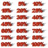 Illustrations-Vektor-Grafik-gesetzte Verkaufs-Prozente Lizenzfreie Stockbilder