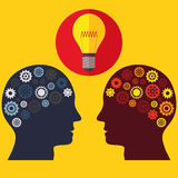 Illustrations-Vektor-Grafik-Kreativität und Ideen Lizenzfreie Stockfotografie