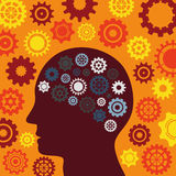 Illustrations-Vektor-Grafik-Kreativität und Ideen Lizenzfreie Stockfotos
