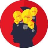 Illustrations-Vektor-Grafik-Kreativität und Ideen Lizenzfreies Stockfoto