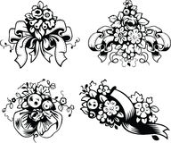 Illustrations of wedding bouquets Stock Photography