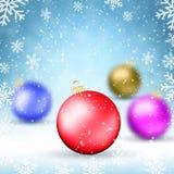 Illustrations-Weihnachtshintergrund Lizenzfreie Stockbilder