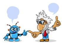 Illustrations-Wissenschaftler und Roboter auf Lager lizenzfreies stockbild