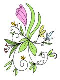 Illustrations-Zusammenfassungs-auf Lager Blumenmuster lizenzfreie abbildung