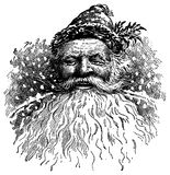 illustrationsanta tappning Arkivfoton