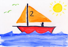 illustrationsbarns målning för utbildning vektor illustrationer