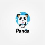 Illustrationscharakter Panda Lizenzfreie Stockfotos