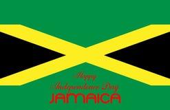 Illustrationsentwurfsflagge glücklicher indepedence Tag Jamaika lizenzfreie abbildung