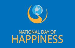 Illustrationsentwurfsflaggen-Nationaltagglück stock abbildung