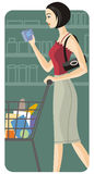 illustrationserieshopping Royaltyfria Bilder